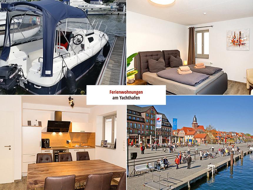 Meckl. Seenplatte - 3*Ferienwohnung am Yachthafen - 6 Tage für 2 Personen